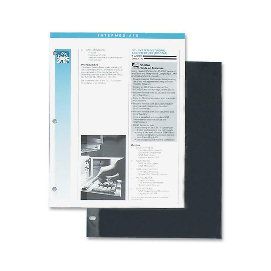 """C-Line Traditional Standard Weight Polypropylene Sheet Protector - Letter 8.50"""" x 11"""" - Polypropylene - 100 / Box - Clear"""". Picture 2"""