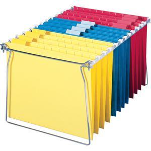 "Smead Hanging Folder Frames - Letter - 23""-27"" Long - Steel - Gray - 2 / Pack. Picture 10"