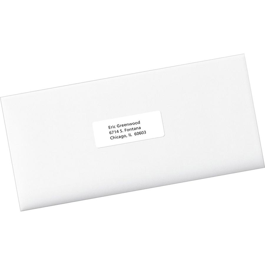 Avery® EcoFriendly Address Labels - Water Based Adhesive - Rectangle - Laser, Inkjet - White - Paper - 30 / Sheet - 25 Total Sheets - 750 Total Label(s) - 750 / Box. Picture 2