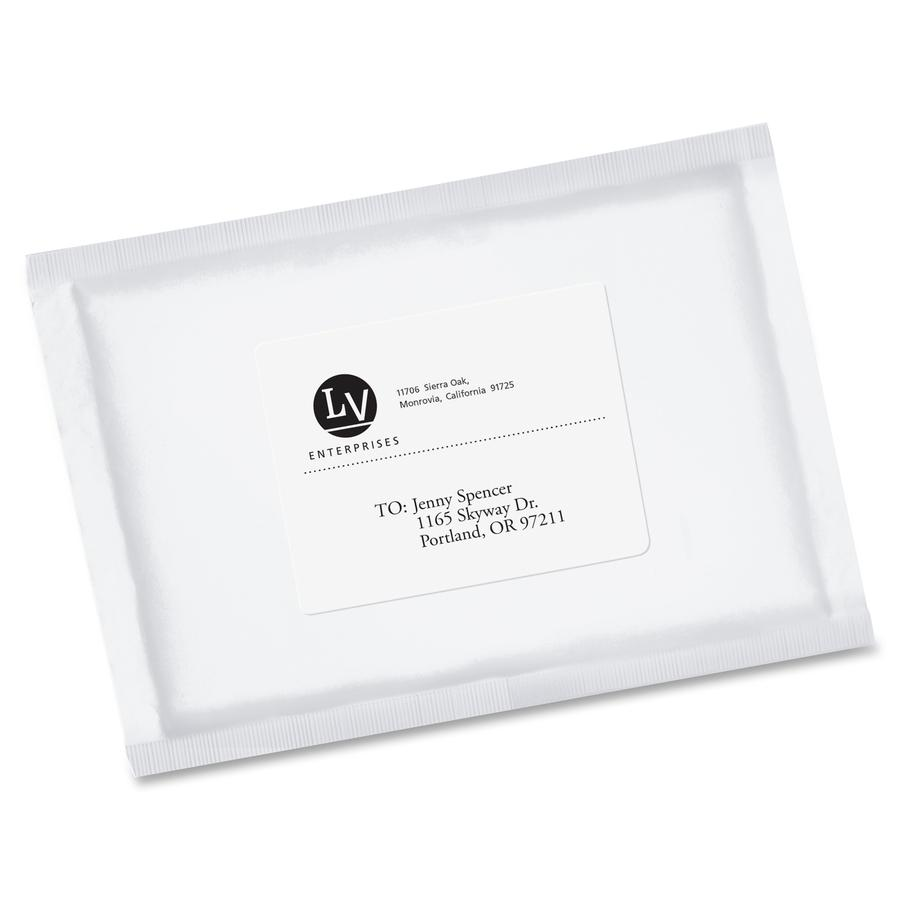 Avery® EcoFriendly Shipping Label - Water Based Adhesive - Rectangle - Laser, Inkjet - White - Paper - 6 / Sheet - 100 Total Sheets - 600 Total Label(s) - 600 / Box. Picture 2