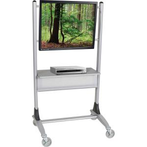 """MooreCo Platinum Series Plasma/LCD Cart - 67"""" Height x 35"""" Width x 25.5"""" Depth - Steel - Silver. Picture 5"""
