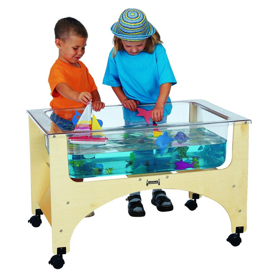 "Jonti-Craft See-Thru Sensory Play Table - 24.50"" Height x 37"" Width x 23"" Depth - Assembly Required - Baltic, Clear. Picture 3"