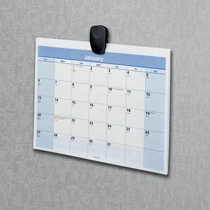 """Fellowes® Partition Additions™ Clip Bulk Pack - 1.3"""" Width - 40 Sheet Capacity - for Notes, Memo, List - Sturdy, Tackable - 20 / Pack - Dark Graphite. Picture 4"""