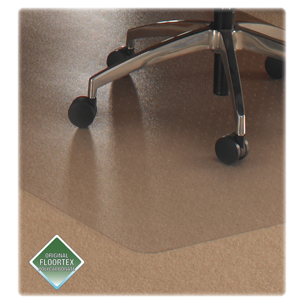 """Cleartex Ultimat Rectangular Chair Mat, Polycarbonate, For Plush Pile Carpets (over 1/2""""), Size 35"""" x 47"""". Picture 3"""