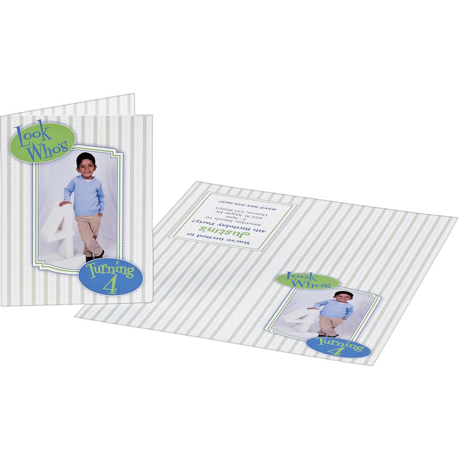 """Avery® Inkjet Greeting Card - 4 1/4"""" x 5 1/2"""" - Matte - 20 / Pack - White. Picture 2"""
