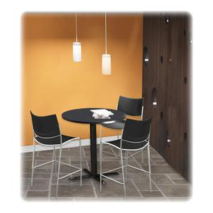 """Mayline Bistro Tables Black X-Shaped Base - Black X-shaped Base - 28"""" Height - Assembly Required. Picture 2"""