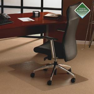 """Cleartex Ultimat Chair Mat, Clear Polycarbonate, For Low & Medium Pile Carpets (up to 1/2""""), Rectangular with Lip, Size 35"""" x 47"""". Picture 3"""