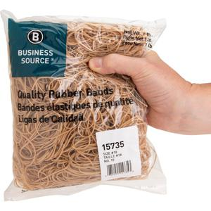 """Business Source Quality Rubber Bands - Size: #18 - 3"""" Length x 0.1"""" Width - Sustainable - 1480 / Pack - Rubber - Crepe. Picture 7"""