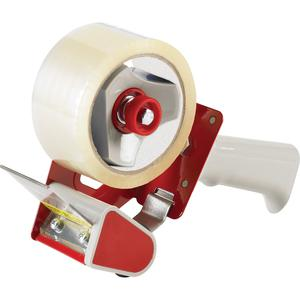 """Business Source Pistol Grip Tape Dispenser - 3"""" Core - Adjustable Tension Mechanism - Red - 1 Each. Picture 3"""