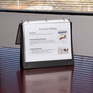 "Business Source Presentation Binder - 1"" Binder Capacity - Letter - 8 1/2"" x 11"" Sheet Size - Ring Fastener(s) - Internal Pocket(s) - Black - Recycled - Business Card Holder, Label Holder - 1 Each. Picture 4"