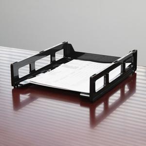 Business Source Front-Load Stackable Letter Tray - Desktop - Stackable - 25% - Black - Plastic - 1 Each. Picture 3