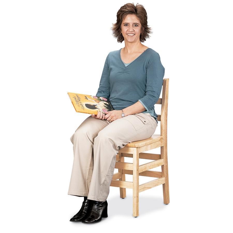 "Jonti-Craft KYDZ Ladderback Chair - Maple - Solid Hardwood - 14.5"" Width x 13.5"" Depth x 28.5"" Height - 1 Each. Picture 3"