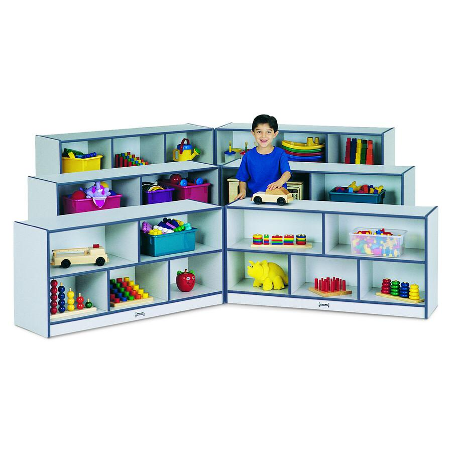 "Rainbow Accents Fold-n-Lock Storage Shelf - 35.5"" Height x 96"" Width x 15"" Depth - Blue - Hard Rubber - 1Each. Picture 4"
