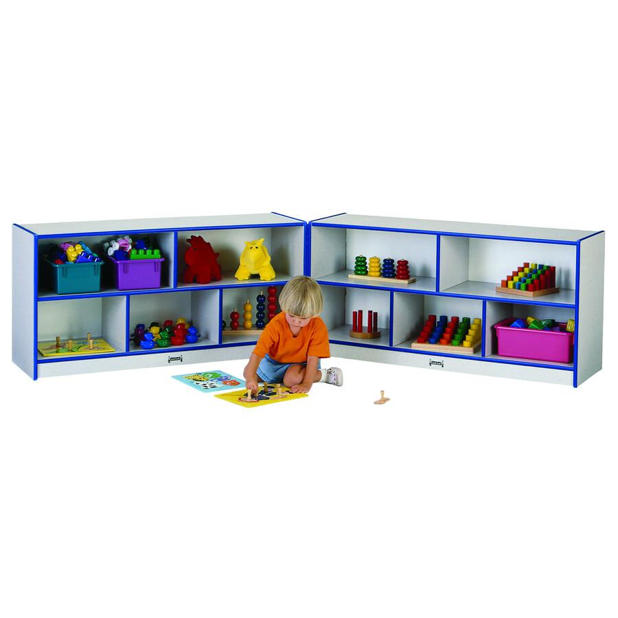 """Rainbow Accents Fold-n-Lock Storage Shelf - 24.5"""" Height x 96"""" Width x 15"""" Depth - Red - Hard Rubber - 1Each. Picture 4"""