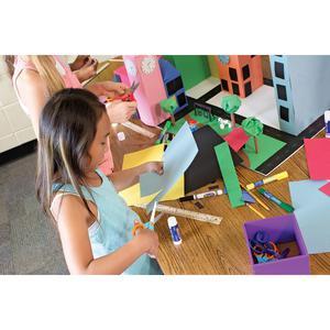 "Riverside Construction Paper - Classroom, Art, Multipurpose - 18"" x 12"" - 50 / Pack - Salmon - Groundwood. Picture 2"