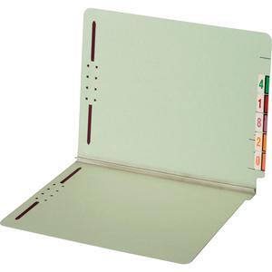 """Pendaflex Letter Recycled Fastener Folder - 8 1/2"""" x 11"""" - 2 Fastener(s) - 2"""" Fastener Capacity for Folder - Pressboard - Light Green - 60% - 25 / Box. Picture 5"""