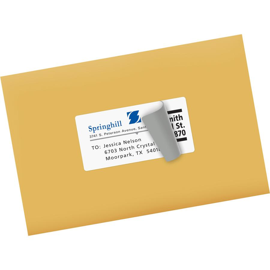 """Avery® 2""""x4"""" White Shipping Labels - Permanent Adhesive - Rectangle - Inkjet - White - Paper - 10 / Sheet - 50 Total Sheets - 500 Total Label(s) - 5. Picture 2"""