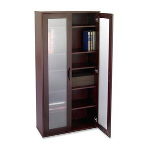 """Safco Après Modular Storage Tall Cabinet - 29.8"""" x 11.8"""" x 59.5"""" - 5 x Shelf(ves) - 75 lb Load Capacity - Mahogany - Wood - Assembly Required. Picture 6"""