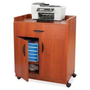 """Safco Deluxe Mobile Machine Stands - 200 lb Load Capacity - 36.3"""" Height x 30"""" Width x 20.5"""" Depth - Laminate - Particleboard, Wood - Cherry. Picture 7"""