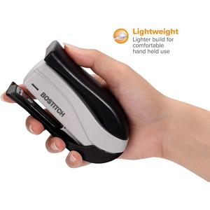 """Bostitch Spring-Powered 15 Handheld Compact Stapler, Black - 15 Sheets Capacity - 105 Staple Capacity - Half Strip - 1/4"""" Staple Size - Black, Gray. Picture 5"""
