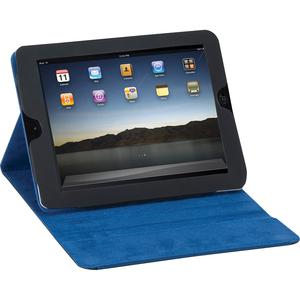 "Solo Tech Carrying Case Apple iPad Tablet - Black, Blue - Vinyl - 8.3"" Height x 9.8"" Width x 1.2"" Depth"