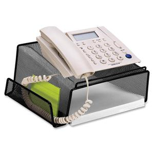 Lorell Angled Height Mesh Phone Stand 11 1 X 10 5 3 Steel Each Black