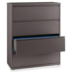 """Lorell Fortress Series 42'' Lateral File - 4-Drawer - 42"""" x 18.6"""" x 52.5"""" - 4 x Drawer(s) for File - Letter, Legal, A4 - Lateral - Magnetic Label Holder, Ball Bearing Slide, Ball-bearing Suspension, A. Picture 2"""