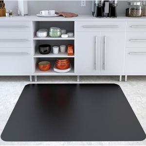 "Deflecto Black EconoMat for Hard Floors - Hard Floor, Office, Carpeted Floor, Breakroom - 60"" Length x 46"" Width - Rectangle - Vinyl - Black. Picture 5"
