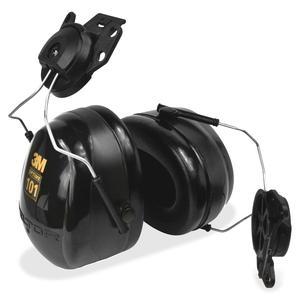Peltor Optime Earmuff Cap-Mount Headset - Comfortable, Noise Reduction - Noise Protection - Stainless Steel Headband, Foam, ABS Plastic - Black - 1 Each