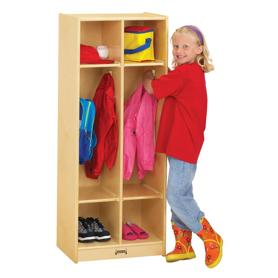 "Jonti-Craft 2 Section Coat Locker - 2 Compartment(s) - 50.5"" Height x 20"" Width x 15"" Depth - Baltic - Birch Plywood - 1Each. Picture 3"