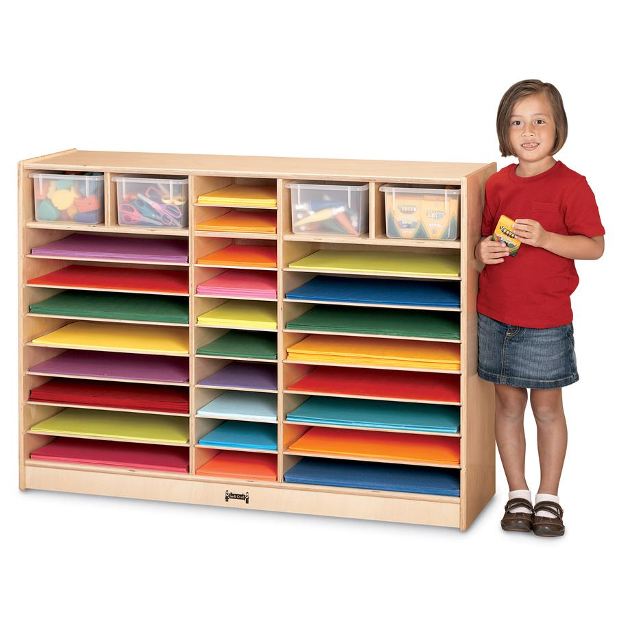 "Jonti-Craft Mobile Paper Center - 35.5"" Height x 48"" Width x 15"" Depth - Baltic - Hard Rubber - 1Each. Picture 3"