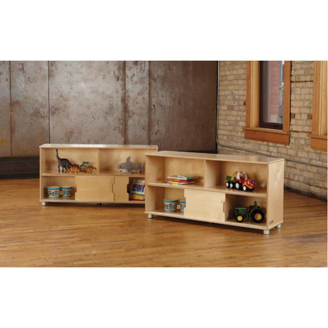 "TrueModern Storage Shelves - 24"" Height x 48.5"" Width x 15"" Depth - Baltic - Anodized Aluminum, Baltic Birch - 1Each. Picture 2"