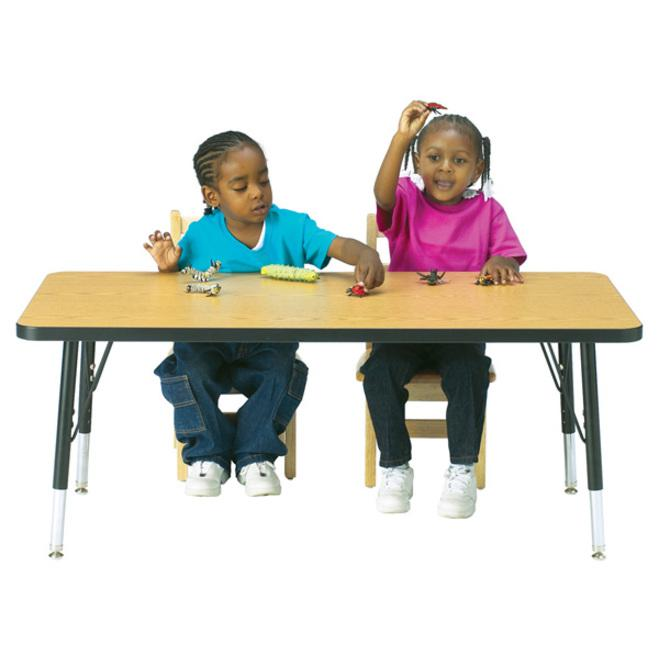 """Berries Elementary Height Color Edge Rectangle Table - Laminated Rectangle Top - Four Leg Base - 4 Legs - 48"""" Table Top Length x 24"""" Table Top Width x 1.13"""" Table Top Thickness - 24"""" Height - Assembly. Picture 2"""