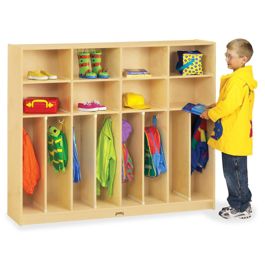 "Jonti-Craft Large Neat-n-Trim Locker - 8 Compartment(s) - 50.5"" Height x 60"" Width x 15"" Depth - Baltic - Acrylic - 8 / Each. Picture 2"