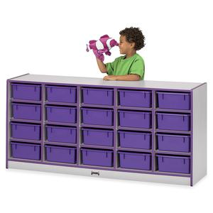 """Rainbow Accents Cubbie Mobile Storage - 20 Compartment(s) - 29.5"""" Height x 24.5"""" Width x 15"""" Depth - Floor - Navy Blue - Hard Rubber - 1Each. Picture 6"""