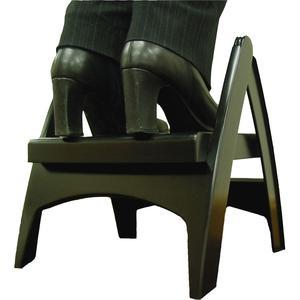 "Adams Folding Step Stool - 300 lb Load Capacity - 13"" x 13.8"" x 12.3"" - Black. Picture 6"