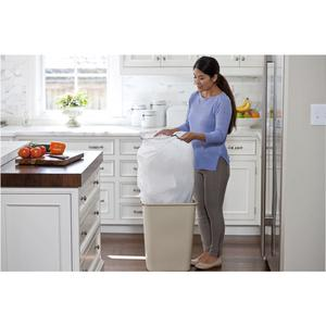 glad forceflexplus tall kitchen drawstring trash bags 13gal white 204 carton 34 per. Black Bedroom Furniture Sets. Home Design Ideas