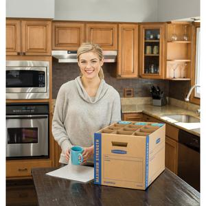"""Bankers Box Bankers Box® SmoothMove™ Kitchen Moving Kit, includes: 1 box, dividers, 40ft. foam, 12""""H x 12.25""""W x 18.5""""D (7712302) - Internal Dimensions: 12.25"""" Width x 18.50"""" Depth x 12"""" Hei"""