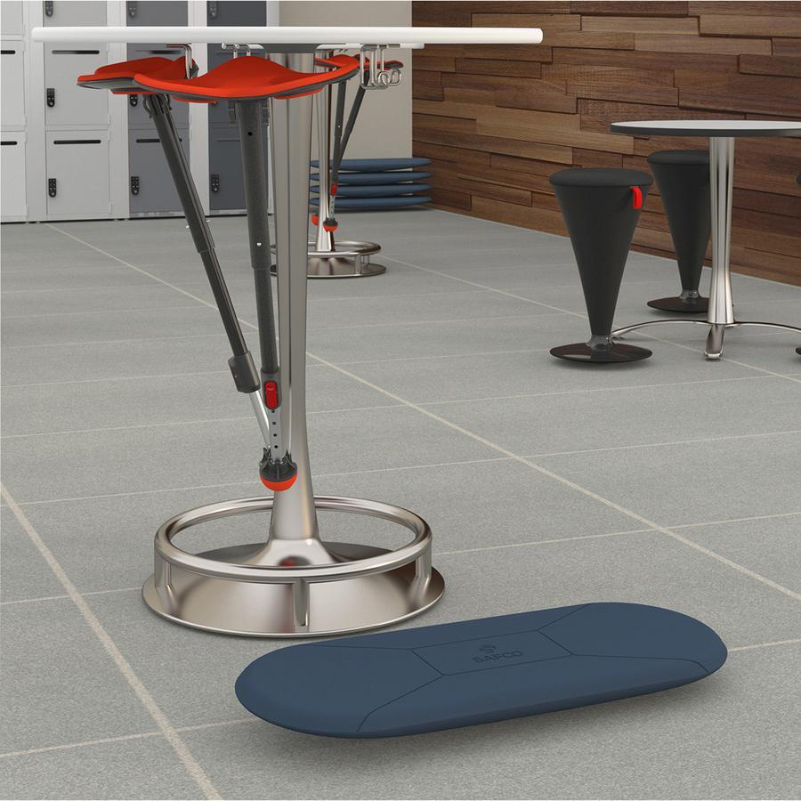 Safco Kick Balance Board - Blue - Plastic, Polyurethane Foam. Picture 3