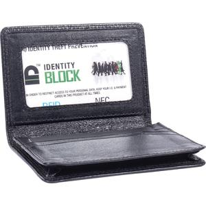 "Swiss Mobility Carrying Case Business Card, License - Black - Leather - 0.8"" Height x 3"" Width x 4"" Depth"