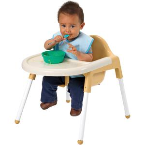 """Angeles Infant Feeding Chair - Four-legged Base - Off White - 7"""" Seat Depth - 22"""" Length x 16"""" Width - 19"""" Height - 1 Each. Picture 2"""