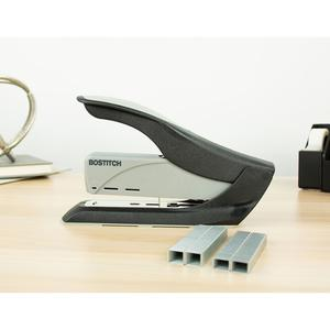 """Bostitch Spring-Powered 60 Heavy-Duty Stapler - 60 Sheets Capacity - 5/16"""" , 3/8"""" Staple Size - Black, Gray. Picture 2"""