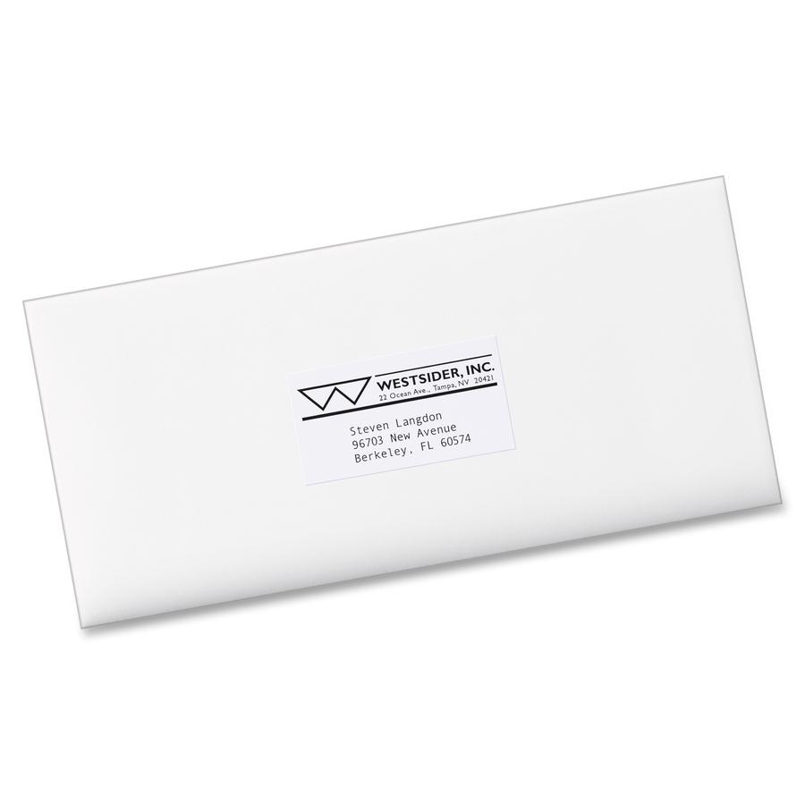 Avery® Copier Address Labels - Permanent Adhesive - Rectangle - White - Paper - 24 / Sheet - 100 Total Sheets - 2400 Total Label(s) - 5. Picture 4