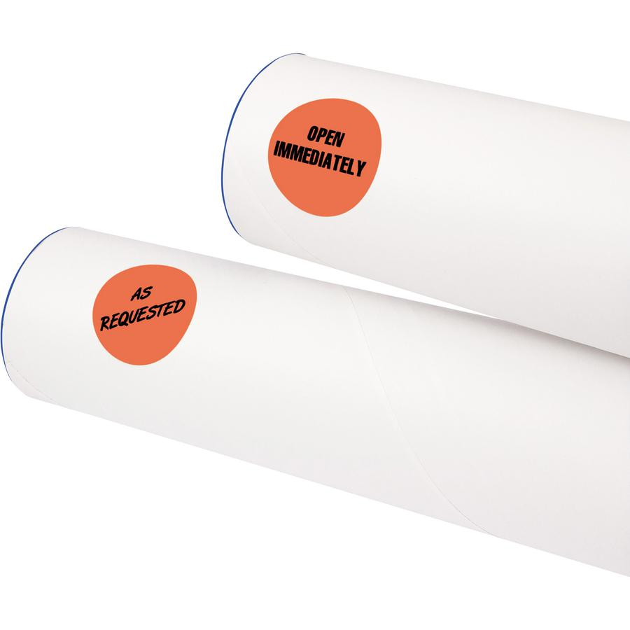 """Avery® 1-1/4"""" Color-Coding Labels - 1 1/4"""" Diameter - Removable Adhesive - Round - Laser - Red - 12 / Sheet - 400 / Pack. Picture 2"""