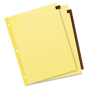 """Avery® Preprinted Tab Dividers - Clear Reinforced Edge - 31 Printed Tab(s) - Digit - 1-31 - 31 Tab(s)/Set - 8.5"""" Divider Width x 11"""" Divider Length - Letter - 3 Hole Punched - Buff Paper Divider -. Picture 4"""