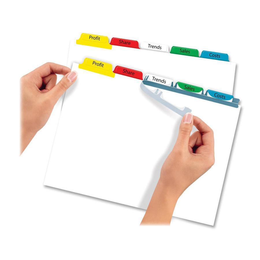 "Avery® Index Maker Index Divider - 40 x Divider(s) - 8 - 8 Tab(s)/Set - 8.5"" Divider Width x 11"" Divider Length - 3 Hole Punched - White Paper Divider - Multicolor Paper Tab(s) - 5 / Set. Picture 5"