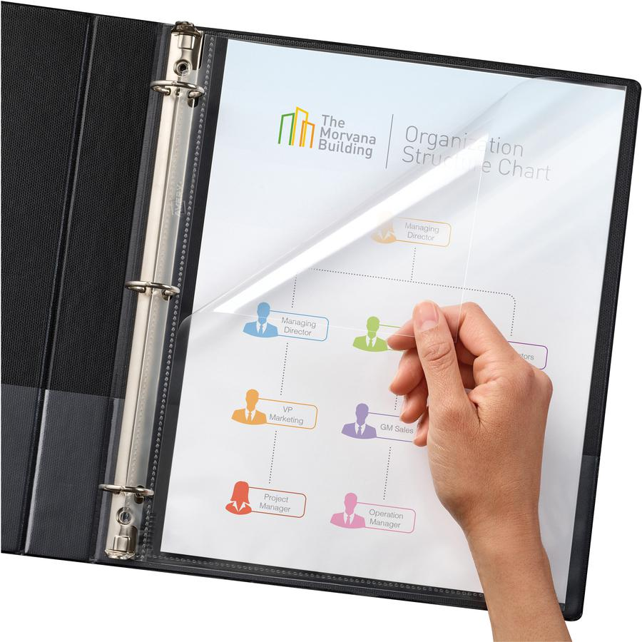 """Avery® Quick-Load Sheet Protectors - For Letter 8 1/2"""" x 11"""" Sheet - Clear - Polypropylene - 50 / Box. Picture 3"""