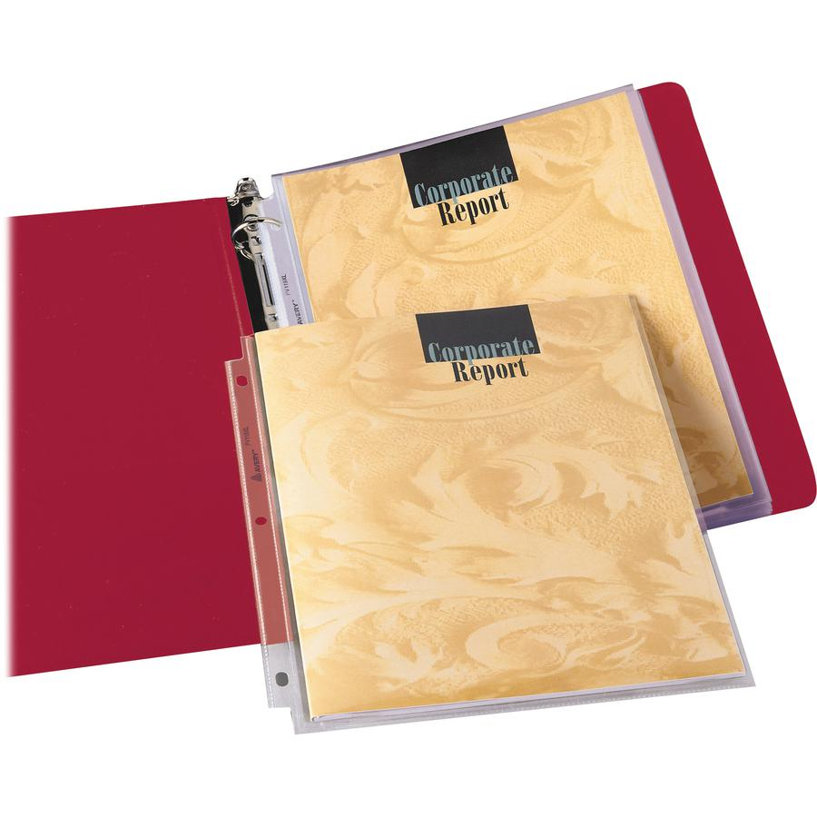 """Avery® Diamond Clear Multi-Page Capacity Sheet Protectors - 50 x Sheet Capacity - For Letter 8 1/2"""" x 11"""" Sheet - Clear - Polypropylene - 25 / Pack. Picture 5"""