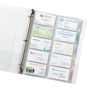 Avery® Business Card Pages - 100 Card Capacity - Clear. Picture 2
