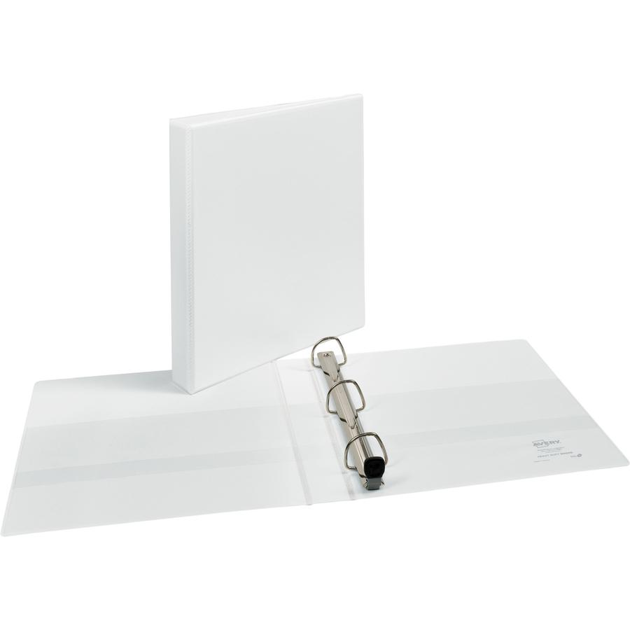 """Avery® Heavy-Duty View 3 Ring Binder - 1"""" Binder Capacity - Letter - 8 1/2"""" x 11"""" Sheet Size - 275 Sheet Capacity - 3 x Ring Fastener(s) - 4 Internal Pocket(s) - Polypropylene - White - Recycled -. Picture 6"""